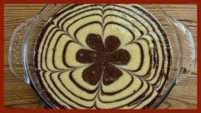 آشپزی آسان-کیک دو رنگ وانیلی و شکلات