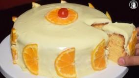کیک پزی-کیک پرتقالی بدون فر