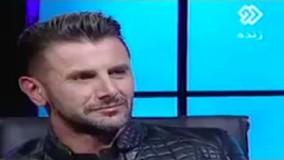اختلاف نظر امین حیایی و مجری در برنامه زنده بر سر تعداد برنامه هایش