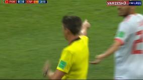 گل رونالدو پرتغال به اسپانیا (گل اول- پنالتی)