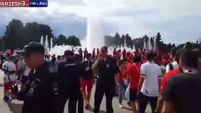 هواداران ایران و مراکش ساعاتی قبل از بازی