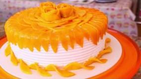 کیک پزی-تهیه کیک اسفنجی انبه