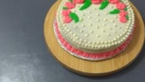 کیک پزی-    طرز تهیهٔ آسان کریم کیک