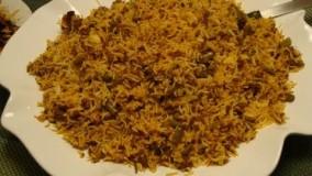 آشپزی ایرانی-تهیه لوبیا پلو -آسان و سریع