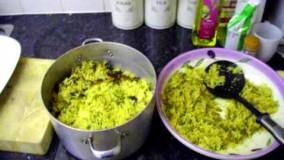 آشپزی ایرانی-تهیه لوبیا پلو خوش طعم