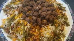 آشپزی ایرانی-تهیه لوبیا پلو مجلسی