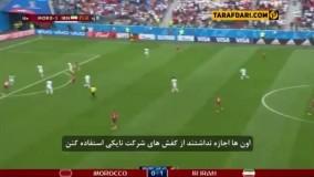 گزارش شبکه ITV در دقایق پایانی بازی ایران مراکش و اشاره به تحریم های بین المللی و ماجرای کفش نایک:(با زیرنویس فارسی)