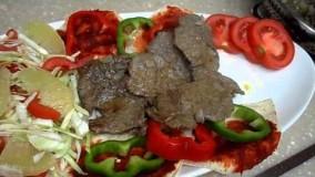 آشپزی ایرانی-تهیه اسكندر كباب-کباب بسیار لذیذ