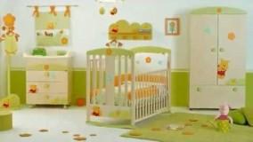 دکوراسیون اتاق نوزاد-دکوراسیون اتاق کودک با رنگ سبز