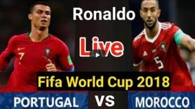 نتیجه بازی پرتقال و مراکش-گل اول پرتغال به مراکش (کریستیانو رونالدو)