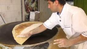 آشپزی ایرانی-طرز تهیه  نان یوخه سوغات شهر شیراز وکرمانشاه