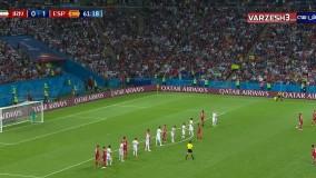 نتیجه بازی ایران اسپانیا-گل (آفساید) زیبای ایران - اسپانیا 1-0 ایران