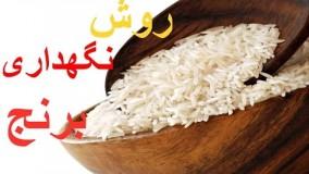 روش نگهداری برنج خانم گل آور