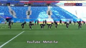 تمرین ایران در ورزشگاه بازی با مراکش؛ سن پترزبورگ