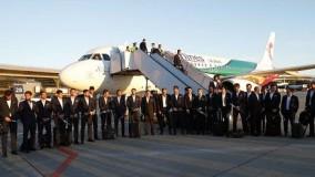 ورود کاروان تیم ملی فوتبال ایران به روسیه در میان استقبال ایرانیان …