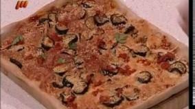 آشپزی ایرانی-پیتزای بادمجان و کنجد