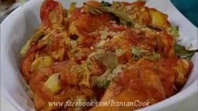 آشپزی ایرانی-رولهای بادمجان کبابی و گوشت و پنیر