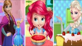 السا و آنای جدید-بازی کیک السا و آنا