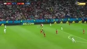 امید ابراهیمی در بازی ایران و اسپانیا چه می کنه