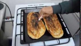 تهیه نان - آموزش پخت نان بربری بدون نیاز به فر- آسان