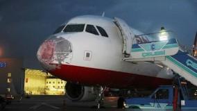 ترکیه؛ تگرگ باعث خسارت به هواپیما و فرود اضطراری شد