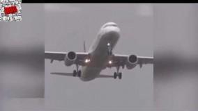 ویدیو دیدنی،از بهم خوردن تعادل هواپیما در آسمان های هلند به علت طوفان شدید.