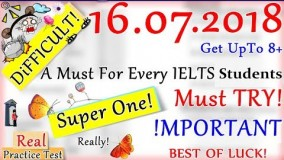 IELTS LISTENING PRACTICE TEST 2018 WITH ANSWERS | 16.07.2018
