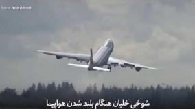 ببینید: شوخی خلبان هنگام بلند شدن هواپیما
