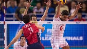 نخستین مسابقه والیبال ایران - آمریکا  در  لیگ جهانی ۲۰۱۵