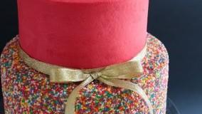 ایده تزیین کیک تولد دخترونه-دو طبقه