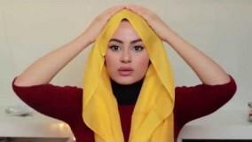 22-مدل بستن روسری چهارگوش