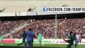 دقیقه ی ۲۴ بازی ایران - ترکمنستان و تشویق هادی نوروزی