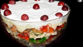 دسر آسان-تهیه تراقل میوه