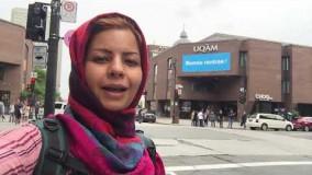 ویدئوی خانم حاج صفری از اولین روز ورود به کانادا