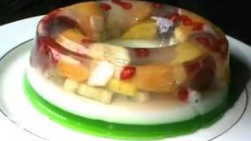دسر آسان-تهیه پودینگ و ژله میوه