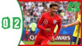 خلاصه بازی انگلیس 2 0 سوئد مرحله یک چهرم نهایی جام جهانی 2018