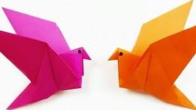 آموزش اوریگامی پرنده-ویدیو اوریگامی 66