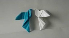 آموزش اوریگامی پرنده-ویدیو اوریگامی 100