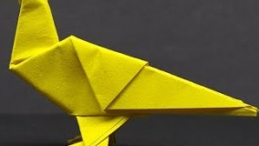 آموزش اوریگامی پرنده-ویدیو اوریگامی 102