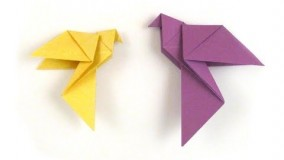 آموزش اوریگامی پرنده-ویدیو اوریگامی 104