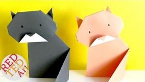 آموزش اوریگامی حیوانات-آموزش اوریگامی ساده برای کودکان قسمت 3