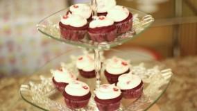 کیک پزی--تهیه کیک رد ولوت با کرم