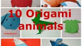 آموزش اوریگامی حیوانات سه بعدی-ویدیو های اوریگامی قسمت 90
