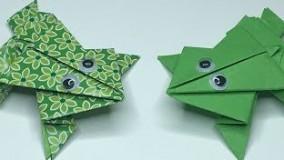 آموزش اوریگامی قورباغه پرشی-آموزش اوریگامی سه بعدی ساده