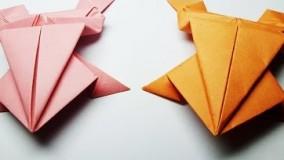 اموزش اوریگامی قورباغه-ویدیو های اوریگامی 10