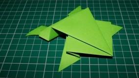 آموزش اوریگامی قورباغه پرشی-آموزش اوریگامی خیلی ساده