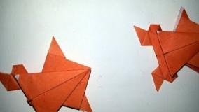 آموزش اوریگامی حیوانات سه بعدی اموزش اوریگامی قورباغه 7