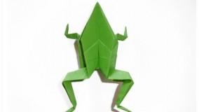 آموزش اوریگامی حیوانات سه بعدی اموزش اوریگامی قورباغه 11