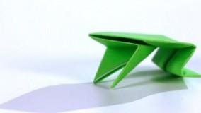 آموزش اوریگامی قورباغه-آموزش اوریگامی ساده