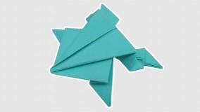 اموزش اوریگامی قورباغه-ویدیو های اوریگامی 8